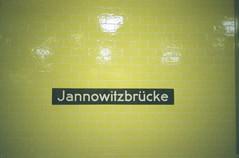 At Jannowitzbrücke (jear) Tags: summer berlin film sign germany fuji metro august olympus iso ubahn mm press expired 35 800 jannowitzbrücke 2011 mju1