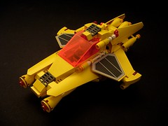 SUNTRON - Small Fighter (main view) (Crimso Giger) Tags: yellow fighter ship lego space spaceship abs espace starship futur moc afol starfighter chasseur vaisseau spacefighter vaisseaux staship vaisseauspatial legoship legospaceship legostarship crimsogiger suntron vaisseaulego vaisseauspatiallego
