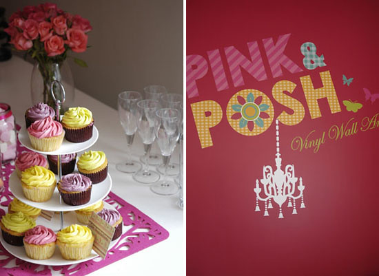 Pink & Posh vinyl wall art