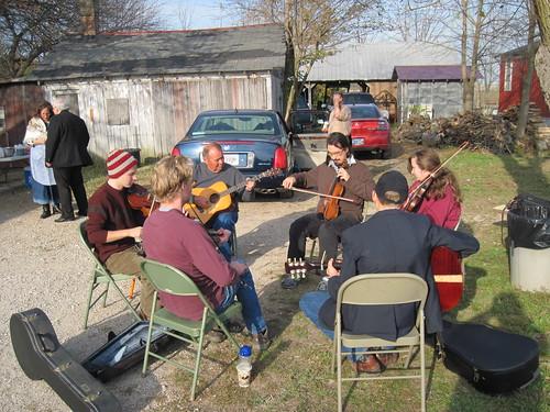 driveway bluegrass concert