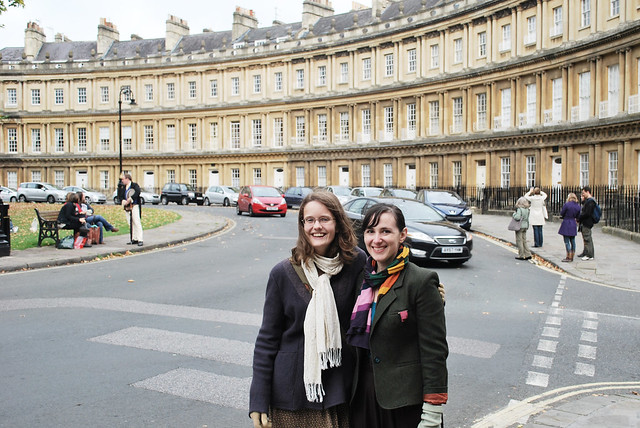 Katie and Mollie in Bath