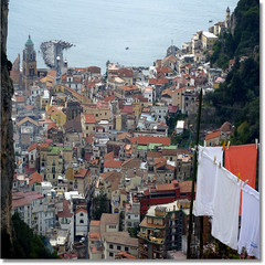 washday in Pontone, Amalfi below .. Explore # 13 oct 25 (jjamv) Tags: sea italy italia mare campania amalficoast explorer explore positano sorrento ravello amalfi salerno costieraamalfitana pontone explored 100commentgroup jjamv julesvtravel