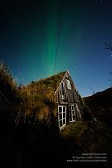 Aurora borealis shs_n3_087067 (Stefnisson) Tags: night stars lights iceland heaven aurora northern ísland borealis nótt hús bær norðurljós burstabær torfbær stjörnur stefnisson