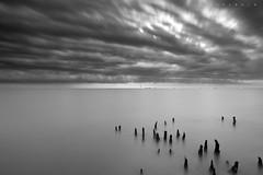 The clouds (SHAZRAL) Tags: longexposure bw seascape canon eos malaysia pantai banting gnd ef1740mmlusm leefilters kelanang 5dmarkii azralfikri shazral 09soft