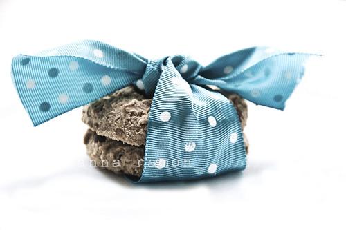 lazo azul con cookies
