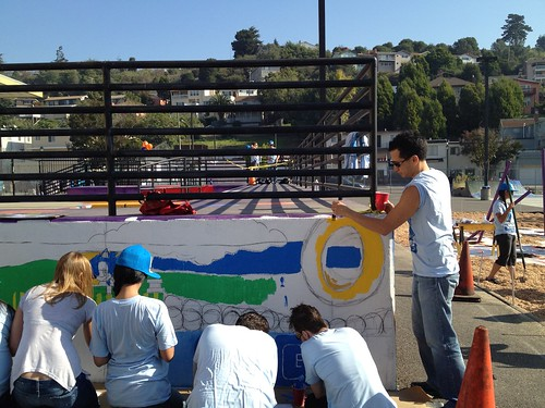 Painting the Sonic mural