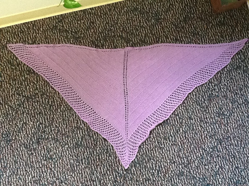 Lavender shawl completed