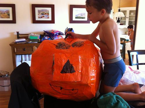 Ezra's jack-o'lantern