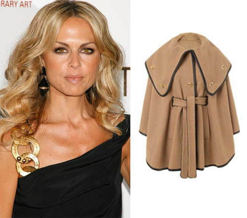 Rachel-Zoe-and-her-Tan-Ali-Wrap-Collar-Cape
