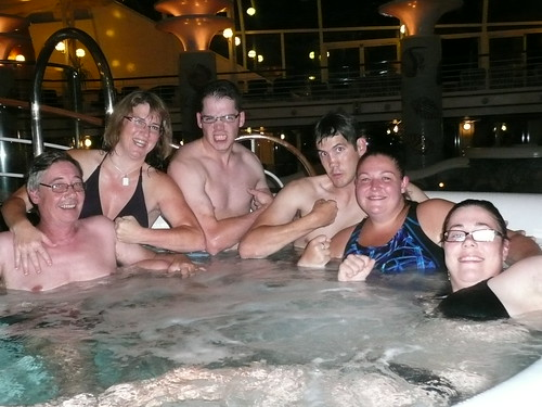 In The Hot Tub!
