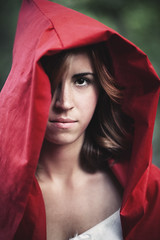 Little Red Riding Hood (Colors in B&W) Tags: red portrait eyes wolf pretty little sensual riding hood lipstick