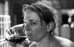 Andy (Gabo Barreto) Tags: summer woman film glass argentina buenosaires holidays wine bokeh sister drinking bellavista freckles 135 sanmiguel gabo barreto foma omsystem gabobarreto