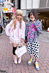 Super Lovers x Awesome Shibuya Hair (tokyofashion) Tags: street pink guy girl fashion japan japanese tokyo shibuya style blonde centerstreet superlovers 2011 japanesefashion
