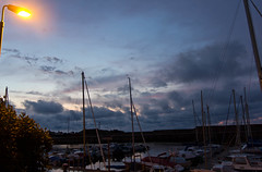 Findochty harbour (AxelN) Tags: clouds boats abend scotland harbour top photographers wolken boote lantern hafen laterne findochty schottland morayfirth brigettes