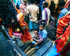 Its time for Laxmi Puja (Sukanta Maikap Photography) Tags: street boy portrait india streetphotography kolkata calcutta westbengal laxmipuja handpulledrickshaw lifeonstreet clayidol tokina1116f28 potuapara laxmiidol goddesslaxmipuja canon450dtokinaatxprosd1116mmf28ifdx