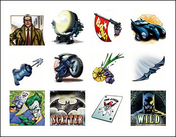 free Batman slot game symbols