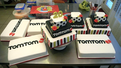 TOMTOM birthday cakes by CAKE Amsterdam - Cakes by ZOBOT