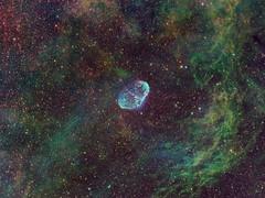 Crescent Nebula (kappacygni) Tags: night stars space nebula astrophotography astronomy phd deepspace cygnus baader nebulosity ngc6888 narrowband crescentnebula starlightxpress eq6 Astrometrydotnet:status=solved qhy5 Astrometrydotnet:version=14400 sxvrh18 tmb92ss meade127 astro:gmt=20111002t2230 astro:subject=crescent bestastro Astrometrydotnet:id=alpha20111114283083 competition:astrophoto=2012