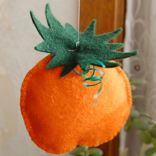 felt pumpkins / vilten pompoentjes