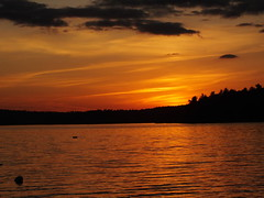Sunset On Androscoggin Lake 6 (RonG58) Tags: pictures new trip travel autumn light sunset orange usa lake color fall film nature water yellow clouds forest landscape geotagged fun photography us photo woods raw day image photos live wayne maine lakes picture images trail photograph backcountry digitalcamera fugifilm androscogginlake dailynaturetnc11 finepixhs20exr rong58