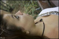 Almudena Jimnez, Parque del Capricho (auroragmr) Tags: clara portrait girl chica retrato adolescente blonde rubia teenager joven castaa oscura posado