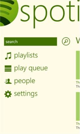 Spotify Windows Phone app