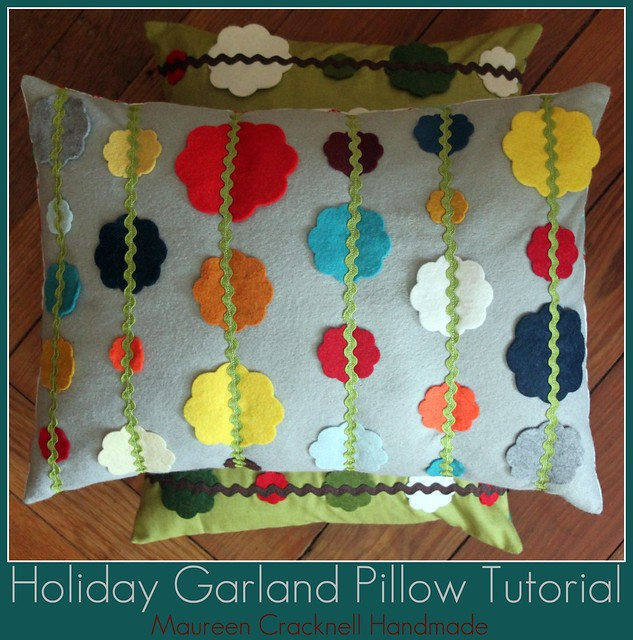 Holiday Garland Pillow Tutorial