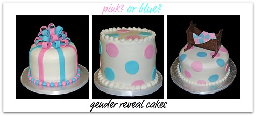 Gender Reveal Cakes - boy or girl?
