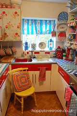 new-kitchen-0005 (HAPPY LOVES ROSIE) Tags: flowers vintage french happy whimsy pretty bright retro polkadots spotty checks cathkidston kitchenalia shabbychic happylovesrosie frenchenamel happyharris happyhousekitchen