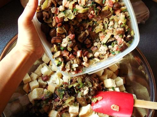 Chestnut Mushroom Pancetta Stuffing