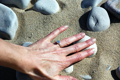 She Said Yes! (The Trey) Tags: camping fall beach engagement sand october hiking michigan bluesky diamond lakemichigan foliage shesaidyes tiffanys 2011 gettingengaged gisteq phototrackr amyandtrey sleepingbeardunesnattionallakeshore