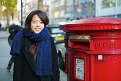 A day in the life of a post box... (hethelred) Tags: street leica red london smile female office student pretty elizabeth post mail box pillar royal double korean ii scarfe m9