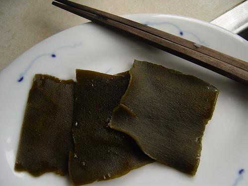 kombu after making ichiban dashi