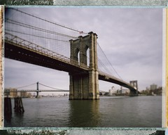 brooklyn bridge (andrew c mace) Tags: nyc newyorkcity film brooklyn analog fuji bokeh manhattan manhattanbridge eastriver instant 4x5 monorail largeformat schneider cambo v700 brookylnbridge fp100c fujifp100c45 schneider72mmxl superangulon72mmxl