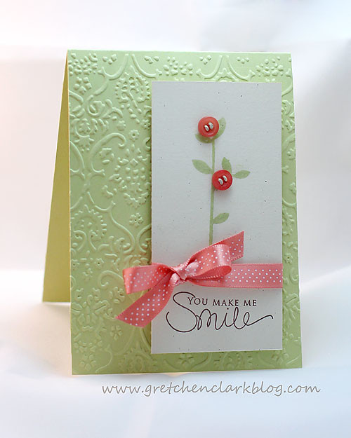 smile spring moss cuttlebug