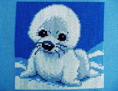 Baby Seal Chunky Cross Stitch (IrynaBy) Tags: cross stitch seal