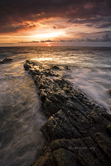 The Tounge (Randi Ang) Tags: sunset seascape west beach rock canon indonesia landscape eos asia cloudy south east filter 5d ang lombok hitech nusa randi barat tenggara senggigi