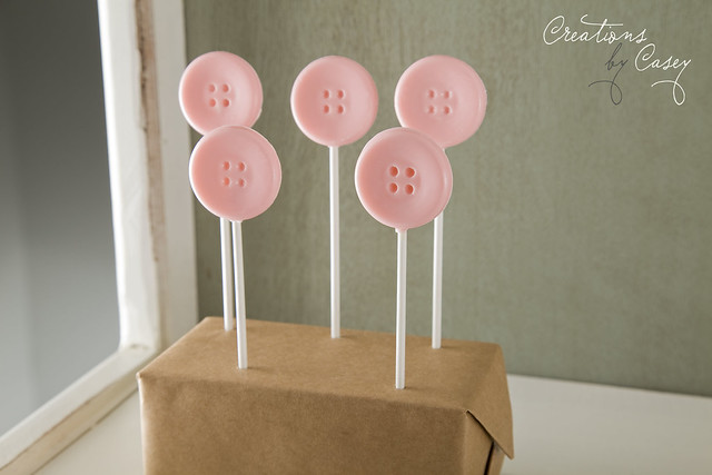 Chocolate button lollipops
