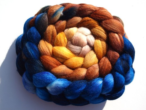 Corgi Hill Farm-merino-tussah 80-20-5oz0Blueberry Bread Pudding 2