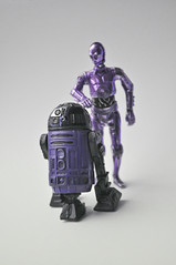 Droids Of Windu (skipthefrogman) Tags: fun toy star see purple action r2d2 figure c3p0 wars custom universe alternate expanded artoo deetoo skipthefrogman threpio