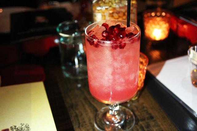 Pomegranate cocktail at Red Medicine by Caroline on Crack