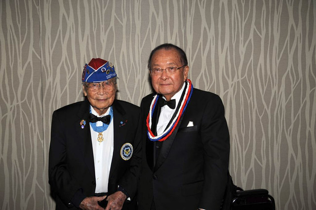 Nisei Veteran George Joe Sakato and Senator Dan Inouye