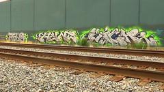 RSEE HUNT SIGH (BLACK VOMIT) Tags: railroad wall graffiti ol pieces south dirty richmond mc dos va sigh rails piece mayhem hunt ssp trackside rsee