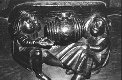Trouble at a Tavern (Giles Watson's poetry and prose) Tags: poetry poem medieval stolen welsh drinkers mediaeval fairford dafyddapgwilym misericord troubleataninn