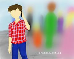 ..♥.. (ShathaAlmotlaq   شذا المطلق) Tags: شوق اتصال رسالة