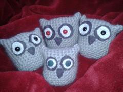 crochet baby owls (schneckk) Tags: grey babies nest handmade crochet den grau felt plsch ferien crafting owls filz langeweile eulen bekmpfen gehkelte flickrandroidapp:filter=none