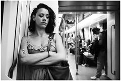 subway portrait (gorbot.) Tags: barcelona portrait blackandwhite bw underground subway lumix tube roberta m43 micro43 microfourthirds siverefex dmcgf1 panasoniclumixgf1 20mmlumixf17
