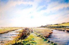 A stroll along the Cuckmere, Pleine aire ! (BILBOV.(Lorus Maver)) Tags: light water river landscape sussex artwork scenic watercolour cuckmere luminosity lorusmaver