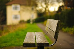 Bokeh (pRaTuL rAgHaV) Tags: park sunset house green grass garden bench lens 50mm prime nikon bokeh f14 g monday guildford afs