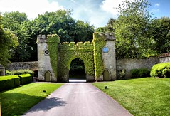 The main Gate at Stourhead House (saxonfenken) Tags: road trees clock wall gate stourhead 7033 7033house